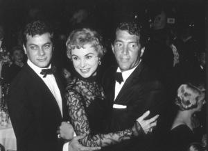 """Golden Globe  Awards""Tony Curtis, Janet Leigh, Dean Martin, 1958. © 1978 Bernie Abramson - Image 10782_0018"