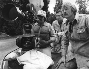"""""""Moving Violation""""Executive producer Roger Corman, director of photography Isidore Mankofsky1976 20th Century FoxPhoto by Wynn Hammer - Image 10789_0003"""