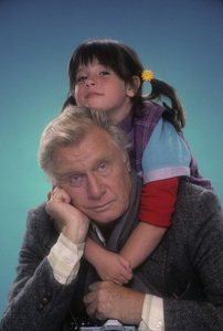 "George Gaynes and Soleil Moon Frye for ""Punky Brewster""1984© 1984 Mario Casilli - Image 10795_0016"