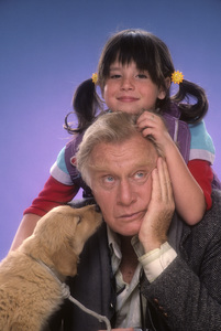 "George Gaynes and Soleil Moon Frye for ""Punky Brewster""1984© 1984 Mario Casilli - Image 10795_0018"