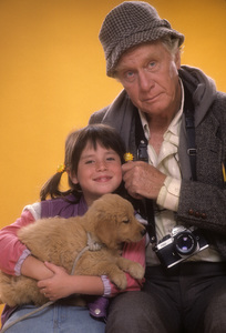 "George Gaynes and Soleil Moon Frye for ""Punky Brewster""1984© 1984 Mario Casilli - Image 10795_0019"