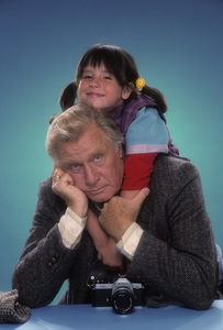"George Gaynes and Soleil Moon Frye for ""Punky Brewster""1984© 1984 Mario Casilli - Image 10795_0020"