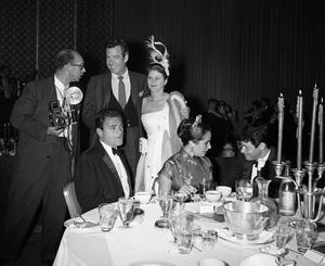 """Beverly Hilton Awards Dinner""Michael Todd, Elizabeth Taylor, Eddie Fisher1957 © 1978 Bernie Abramson - Image 10796_0004"