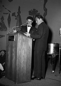 """Beverly Hilton Awards Dinner""Eddie Fisher, Michael Todd1957 © 1978 Bernie Abramson - Image 10796_0009"