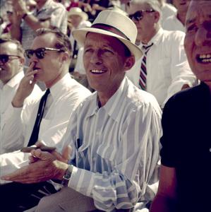 Bing CrosbyAt a World Series Game (L.A. Dodgers vs. Chicago White Sox, 1959) © 1978 Bernie Abramson - Image 10803_0002