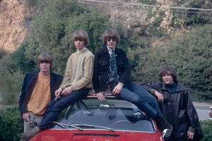 The Byrds Gene Clark, Chris Hillman, Roger McGuinn, David Crosby and their Porsche 1967 © 1978 Gunther - Image 10839_0001
