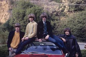 The Byrds (Gene Clark, Chris Hillman, Roger McGuinn, David Crosby) and their Porsche 1967 © 1978 Gunther - Image 10839_0001