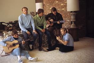 The Beach Boys (Mike Love, Al Jardine, Bruce Johnston, Carl Wilson, Dennis Wilson) circa 1966 © 1978 Gunther - Image 10841_0001