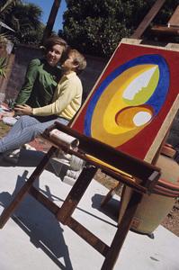 The Beach Boys (Al Jardine and Linda) circa 1966 © 1978 Gunther - Image 10841_0113