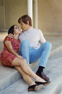 The Beach Boys (Dennis Wilson and Carol) circa 1966 © 1978 Gunther - Image 10841_0115