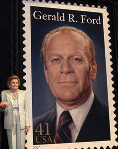 Betty Ford at the USPS Gerald Ford stamp unveiling in Rancho Mirage, CA2007© 2007 Michael Jones - Image 10856_0023