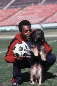 Pele with his Dog Ginger1983 © 1983 Gunther - Image 10865_0006