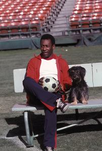 Pele with his Dog Ginger1983 © 1983 Gunther - Image 10865_0009