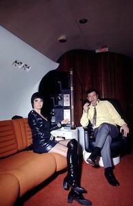 Hugh Hefner on his privatePlayboy jet, 1970 © 1978 Gunther - Image 10869_0010
