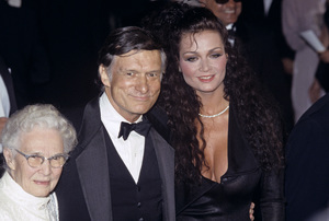 Hugh Hefner with his mother, Grace, and Carrie Leighcirca 1980s© 1980 Jean Cummings - Image 10869_0022