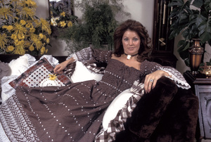 Priscilla Presley at home1973 © 1978 Gunther - Image 10872_0013