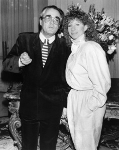 "Michel Legrand and Barbra Streisand at a press conference for ""Yentl"" at the Paris Grand Hotel, Paris, France. March 21, 1984** B.D.M. - Image 10874_0002"