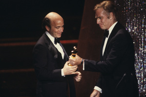 """The 52nd Annual Academy Awards""Stanley R. Jaffe, Charlton Heston1980© 1980 Gunther - Image 10877_0082"