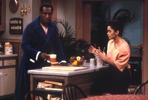 """The Cosby Show""Bill Cosby, Lisa Bonet © 1985 Gene Trindl - Image 10894_0026"