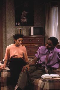 """The Cosby Show""Lisa Bonet, Malcolm-Jamal Warner © 1985 Gene Trindl - Image 10894_0064"