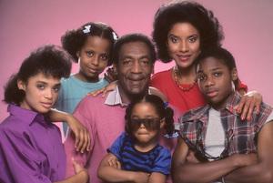 """The Cosby Show"" Keshia Knight Pulliam, Bill Cosby, Lisa Bonet, Tempestt Bledsoe, Phylicia Rashad, Malcolm-Jamal Warner 1984 © 1984 Mario Casilli - Image 10894_0096"