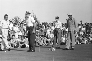 """Desert Inn Country Club 7th Annual Tournament of Champions""Phil Harris, Bob Hope, Walter Winchell, Bing Crosby 1959 © 1978 David Sutton - Image 10945_0006"
