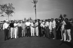 """The 7th Annual Desert Inn Country Club Tournament""Wilbur Clark, Jerry Colonna, Bing Crosby, Bob Hope, Phil Harris, Tony Martin, Walter Winchell, Ray Bolger1959© 1978 David Sutton - Image 10945_0007"