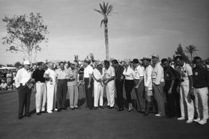 """The 7th Annual Desert Inn Country Club Tournament""Wilbur Clark, Jerry Colonna, Bing Crosby, Bob Hope, Phil Harris, Tony Martin, Walter Winchell, Ray Bolger1959© 1978 David Sutton - Image 10945_0008"