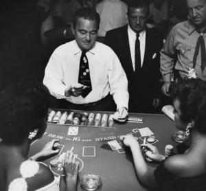 Blackjack dealer at the Desert Inn in Las Vegascirca 1950s © 1978 David Sutton - Image 10954_0015