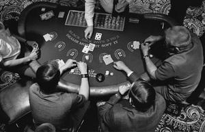 Las Vegasblackjack table at Binion