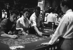 Girl playing roulette at the Flamingo Hotel in Las Vegas1955 © 1978 David Sutton - Image 10954_0038