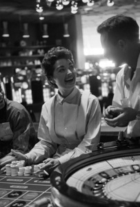 Girl playing roulette at the Flamingo Hotel in Las Vegas1955 © 1978 David Sutton - Image 10954_0039