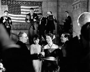 "Louis B. Mayer, Luise Rainer, Frank Capra""Academy Awards- 9th Annual,"" 1937Copyright John Swope Trust / MPTV - Image 11010_0001"