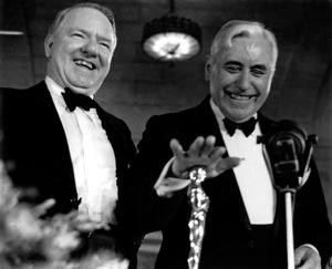 "W.C. Fields, Mack Sennett""Academy Awards - 9th Annual,"" 1938.Copyright John Swope Trust / MPTV - Image 11010_0004"
