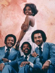 """Gladys Knight and the Pips"" (Gladys Knight, William Guest, Merald Knight, Edward Patten)1974Photo by Herb Ball - Image 11035_0001"