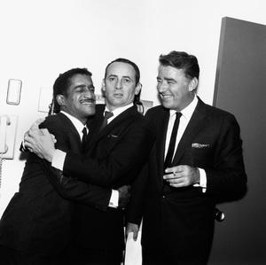 Joey Bishop, Sammy Davis Jr., and Peter Lawford1963 © 1978 Bernie Abramson - Image 11078_0002