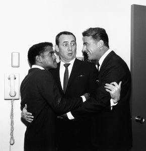 Joey Bishop, Sammy Davis Jr., and Peter Lawford1963 © 1978 Bernie Abramson - Image 11078_0003