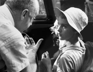 """Bonjour Tristesse""Jean Seberg with directorOtto Preminger 1957 © 1978 Bob Willoughby - Image 11102_0008"