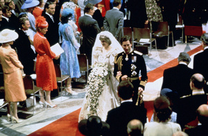 Princess Diana and Prince Charles walking down the center aisle after the ceremonyJuly 29, 1981 - Image 11104_0001