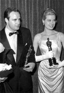 """""""Academy Awards: 27th Annual""""Marlon Brando and Grace Kelly1955**I.V. - Image 11156_0006"""