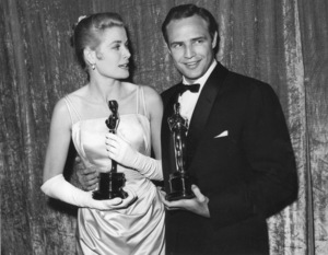 """Academy Awards - 27th Annual""Grace Kelly, Marlon Brando1955**I.V. - Image 11156_0033"