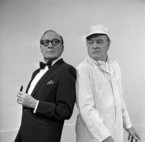 """The Jack Benny Program"" Jack Benny, Bob Hope circa 1964 © 1978 Bud Fraker  - Image 11164_0009"