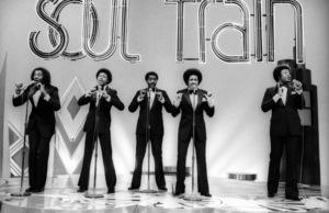The Temptations on Soul Train (Melvin Franklin, Otis Williams, Richard Street, Glenn Leonard, Dennis Edwards)circa 1978© 1978 Bobby Holland - Image 11308_0004