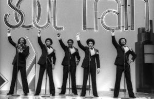 The Temptations on Soul Train (Melvin Franklin, Otis Williams, Richard Street, Glenn Leonard, Dennis Edwards)circa 1978© 1978 Bobby Holland - Image 11308_0005