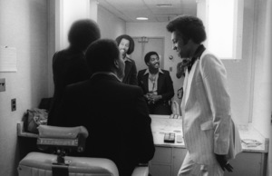 The Temptations in the Soul Train dressing room (Melvin Franklin, Otis Williams, Richard Street, Glenn Leonard, Dennis Edwards)circa 1978© 1978 Bobby Holland - Image 11308_0007