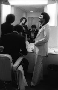 The Temptations in the Soul Train dressing room (Melvin Franklin, Otis Williams, Richard Street, Glenn Leonard, Dennis Edwards)circa 1978© 1978 Bobby Holland - Image 11308_0008