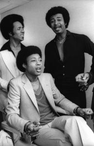 The Temptations in the Soul Train dressing room (Melvin Franklin, Otis Williams, Richard Street, Glenn Leonard, Dennis Edwards)circa 1978© 1978 Bobby Holland - Image 11308_0013
