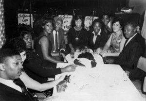 "Sam Cooke at the California Club with Clifton M. ""Cliff"" White (far right) and his wife, Judycirca 1960s** I.V.M. - Image 11352_0039"