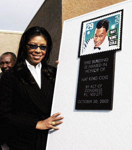 Natalie Cole at her father
