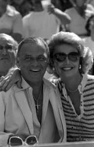 """World Series"" (Los Angeles Dodgers vs. New York Yankees)Frank and Barbara Sinatra1977 © 1978 Gunther - Image 11503_0001"